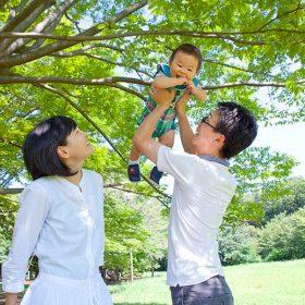 川崎市宮前区の菅生公園に出張撮影した家族写真