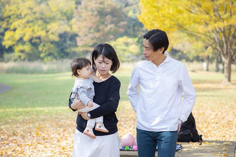 パパの休日に撮影した家族写真