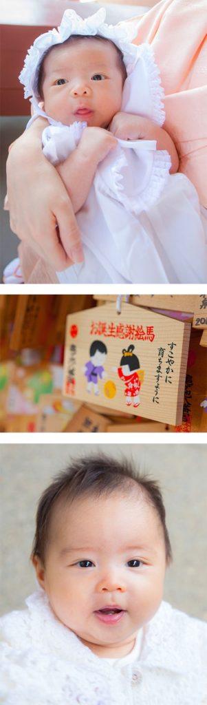 神社に出張撮影したお宮参りの写真