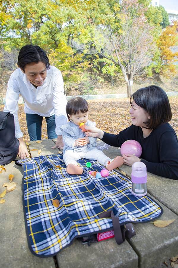 横浜市緑区の公園で撮影した家族のロケーションフォト