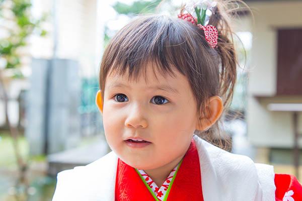 東京の諏訪神社に出張撮影した3歳女の子の七五三写真