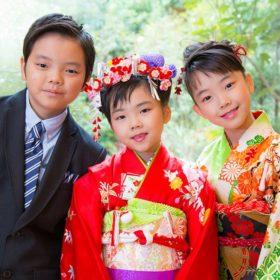 横浜のご自宅に出張撮影した七五三記念日の兄弟の写真