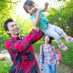 横浜の公園に出張撮影した家族の写真