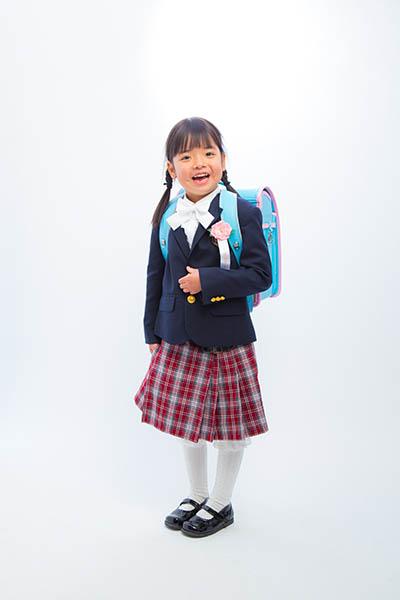 小学校入学式の日に撮った入学記念写真
