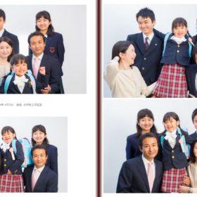 入学式の日に撮影した家族の集合写真