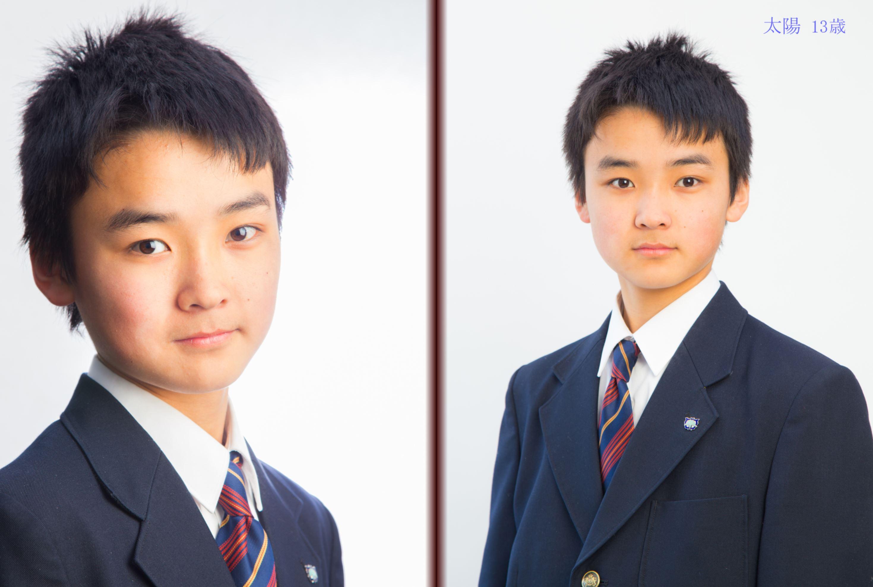 入学式の日に撮ったお兄ちゃんの写真