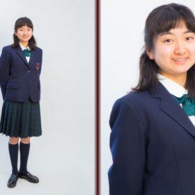 入学式の日のお姉ちゃんのポートレート