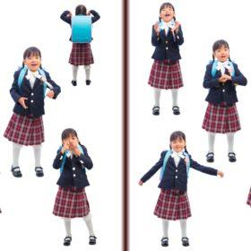 小学校1年生の入学記念写真