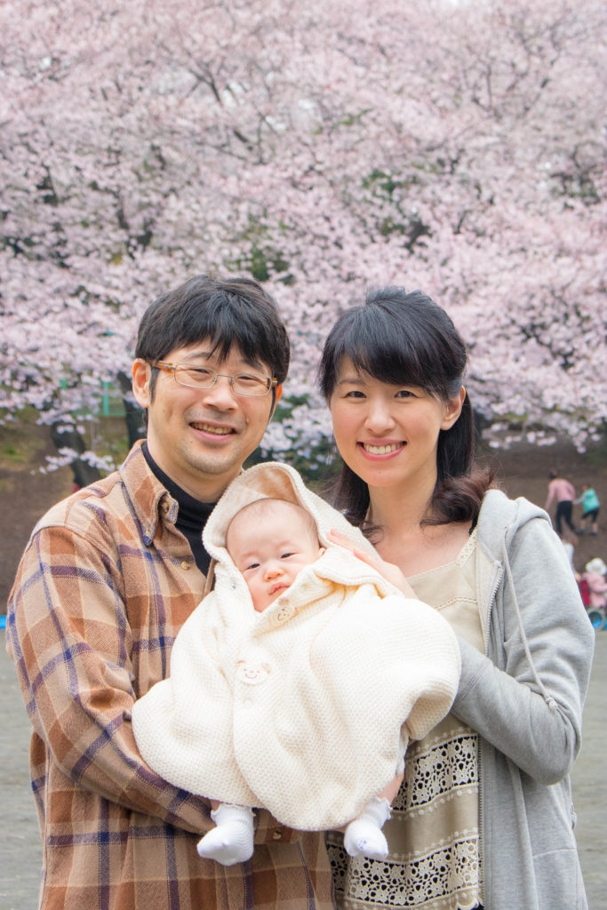 川崎市の公園に出張撮影した家族写真