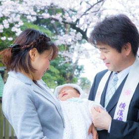横浜に出張撮影したお宮参りの家族写真