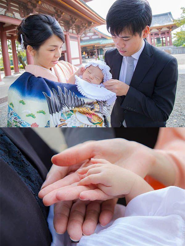 東京都大田区の池上本門寺に出張撮影したお宮参り写真